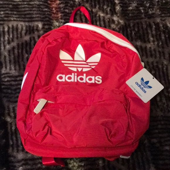 Red Adidas Mini Backpack with 3 Pockets!